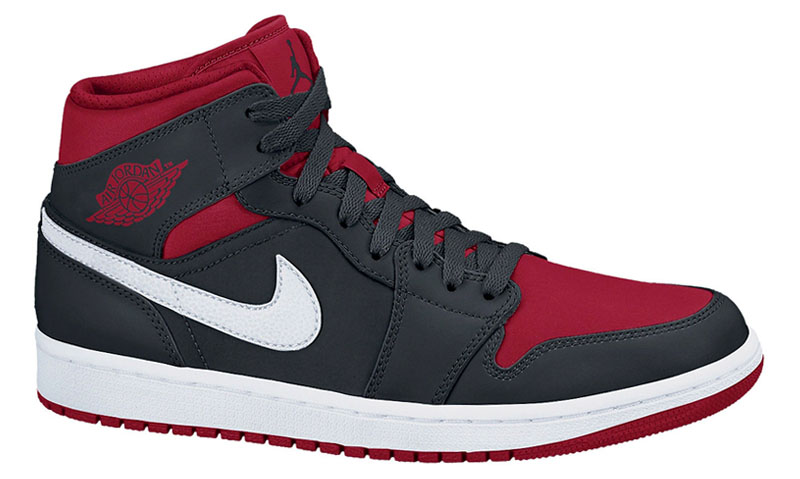 a888e5bcb1d Air Jordan I 1 Retro Mid Black Gym Red 554724-020