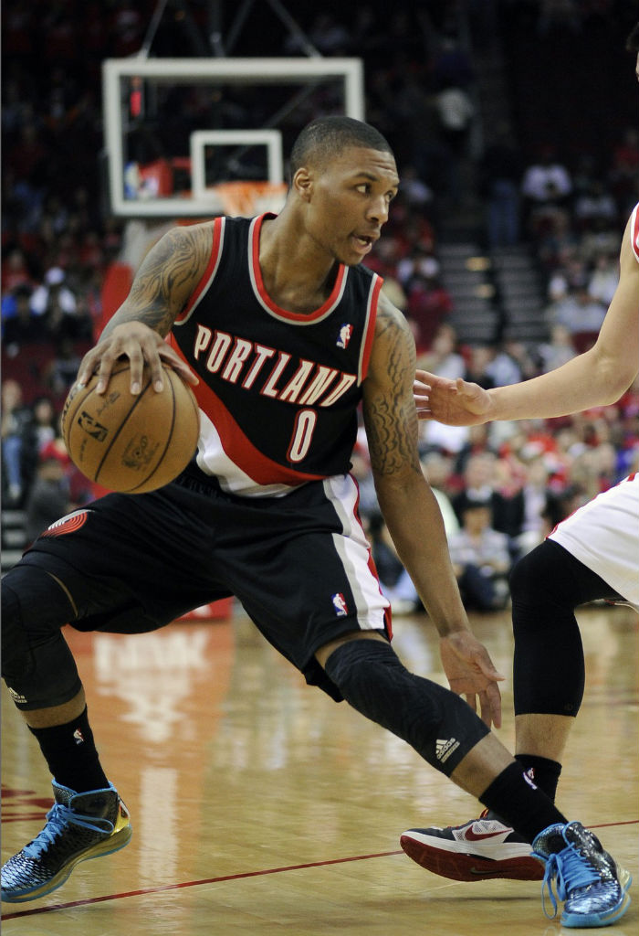 Damian Lillard wearing adidas Rose 3.5 Year of the Snake (2)