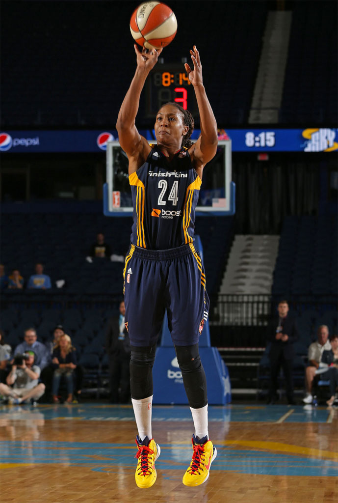 Tamika Catchings wearing the Nike Hyperdunk 2014