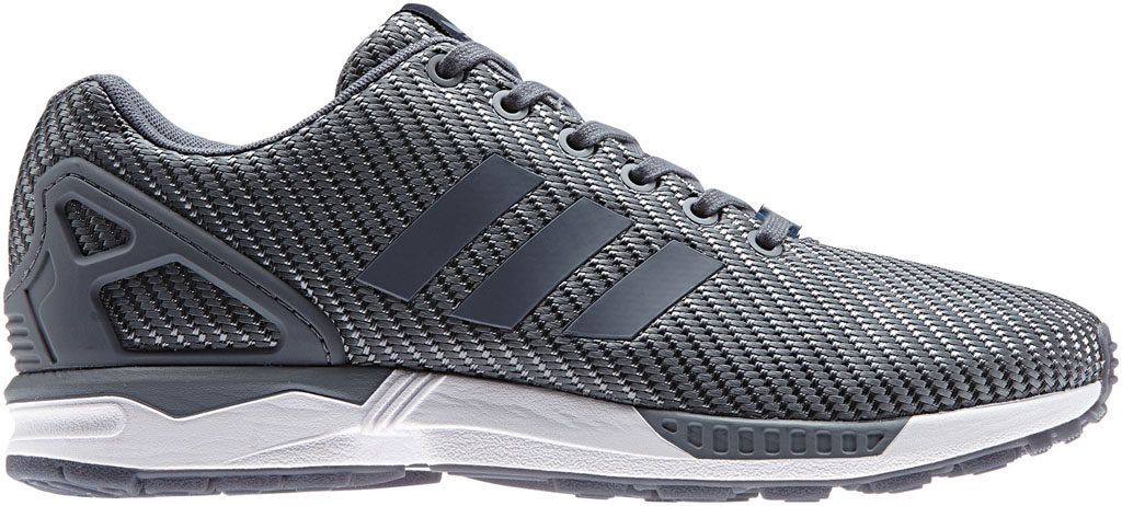 adidas ZX Flux Woven Black / Grey On Feet HD