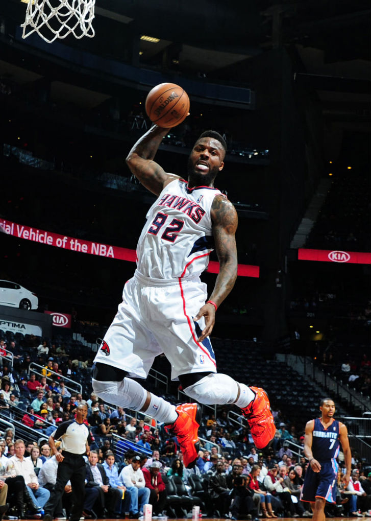 DeShawn Stevenson wearing adidas Top Ten 2000 Bright Lights, Big City Chicago