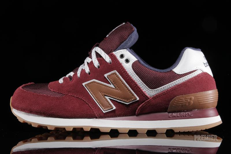 new balance 574 brown red
