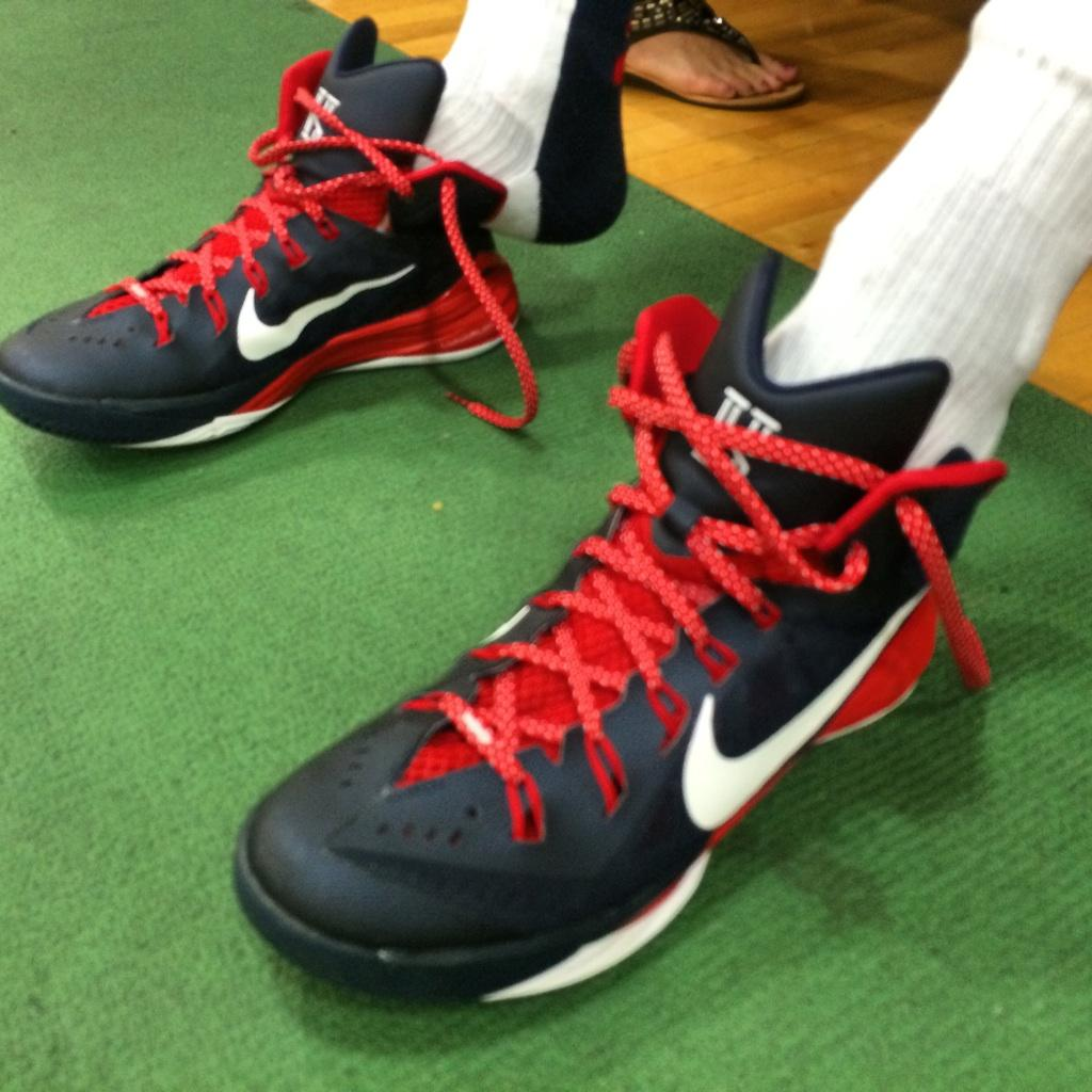 4062cb1687b Kyrie Irving wearing Nike Hyperdunk 2014 USA Away