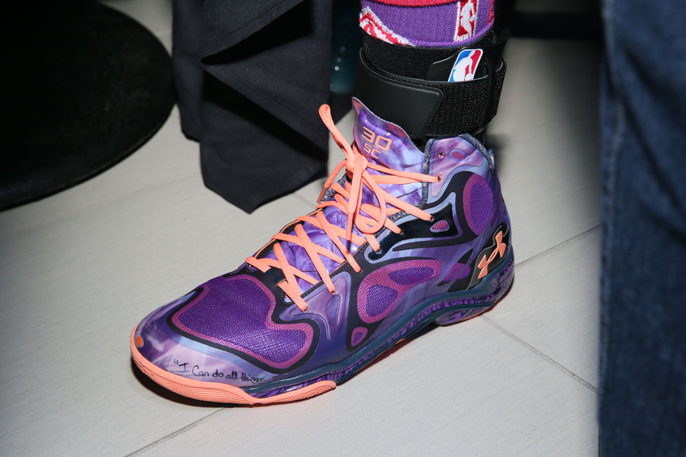Stephen Curry wearing Under Armour Anatomix Spawn Voodoo All-Star