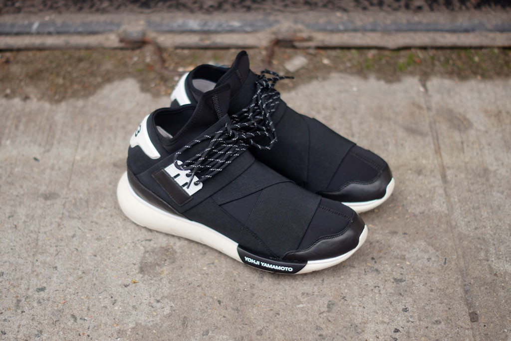 adidas yohji yamamoto y-3 qasa high in black and white