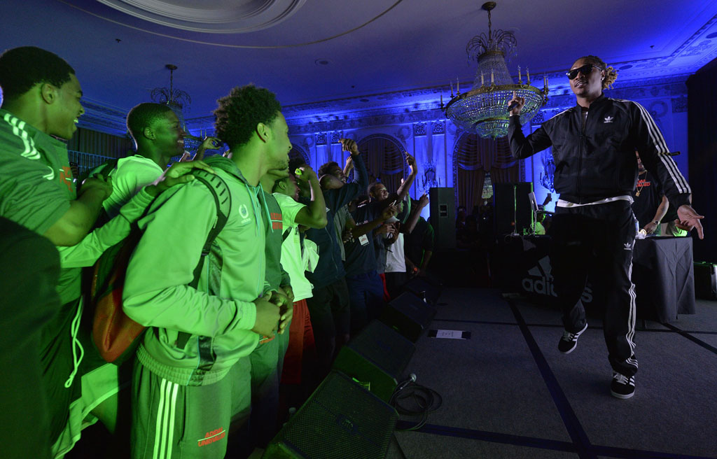 Future Performs for High School Basketball Stars at adidas Unrivaled (1)