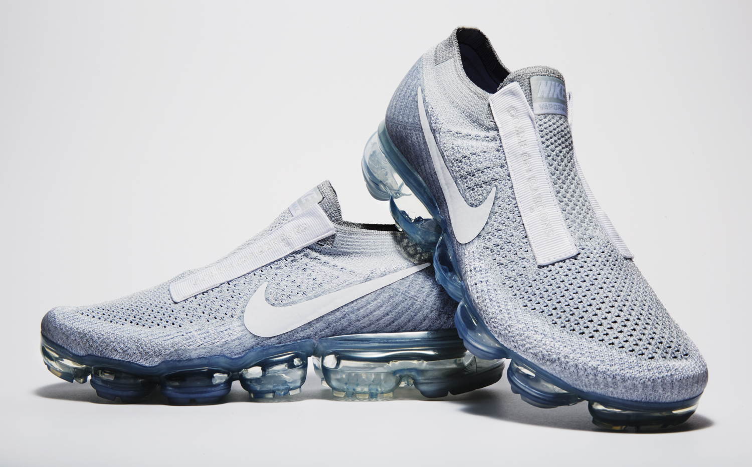 huge discount 6166e cb0b9 Image via Nike White Nike Air VaporMax Comme des Garcons Pair