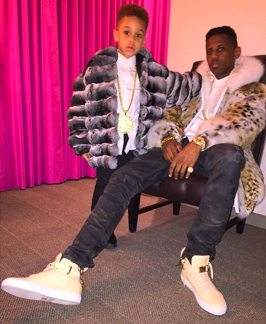 Fabolous wearing Ronnie Fieg x Buscemi 100mm Veg Tan
