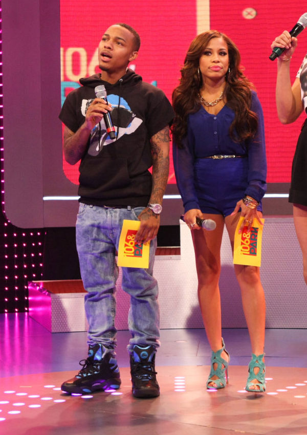Bow Wow wearing Reebok Shaq Attaq Black/Blue (1)