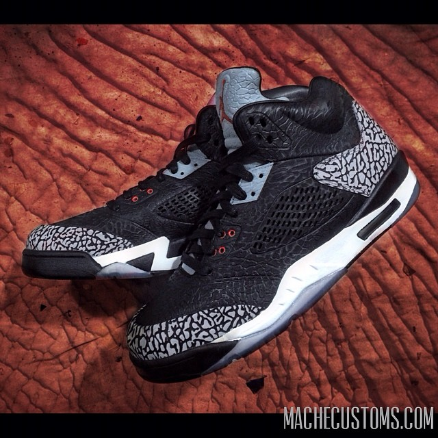 Air Jordan 3Lab5 Black Cement by Mache Customs