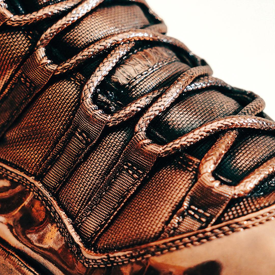 Bronze Air Jordan 11 Laces