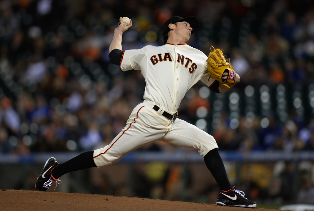 MLB Watch Tim Lincecum Nike Air MVP Elite Giants