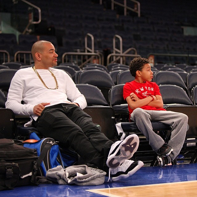 DJ Envy wearing Air Jordan XI 11 Concord