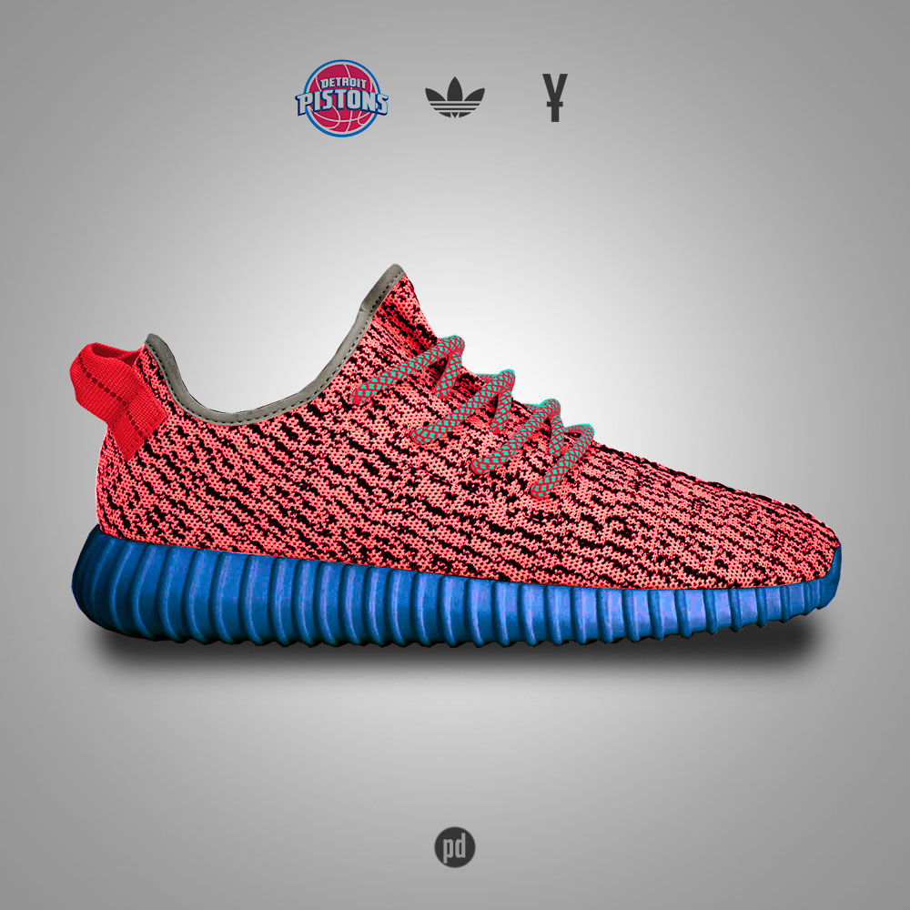 adidas Yeezy 350 Boost for the Detroit Pistons