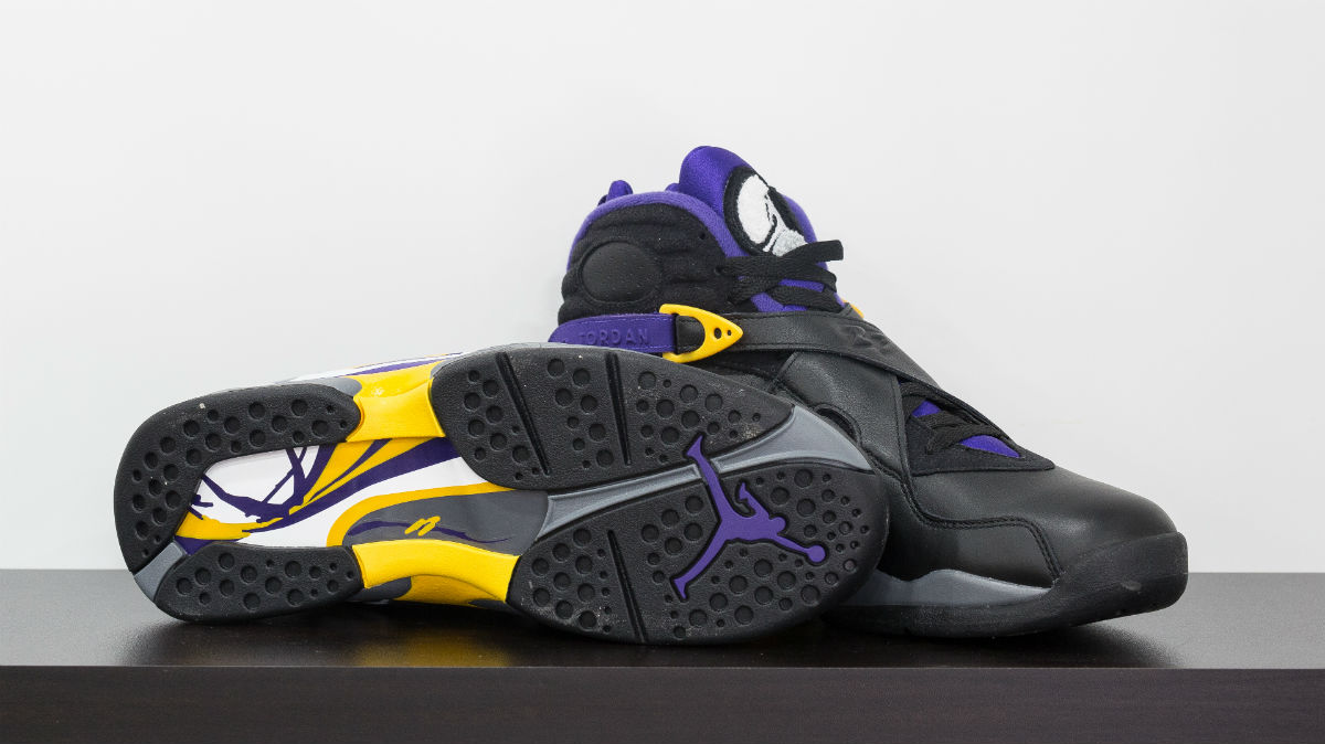 Air Jordan 8 Kobe Bryant Lakers PE Black (2)