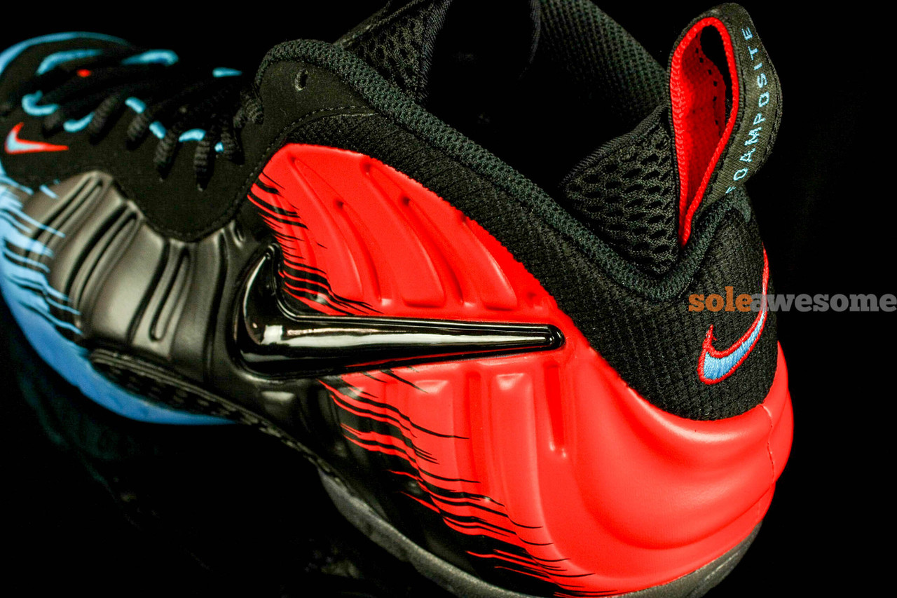 sports shoes aee58 507ea Nike Air Foamposite Pro - Black Red-Blue   Sole Collector