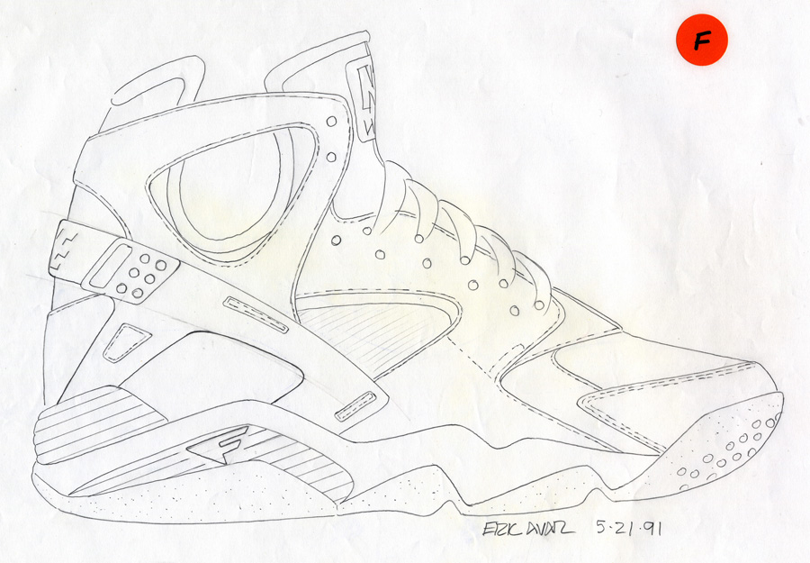 Sketch Work // Nike Air Flight Huarache, By Eric Avar
