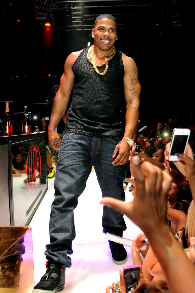 Nelly wearing Nike Air Yeezy 2 II Black Solar Red (4)