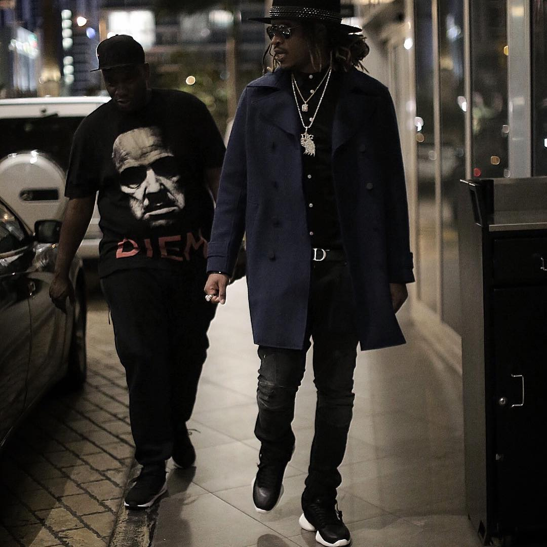 Future wearing the Rick Owens x adidas Runner