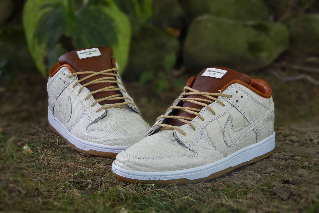 reputable site cffc7 6f3d7 Nike Dunk Low SB 'Ivory Gator' by JBF Customs | Sole Collector