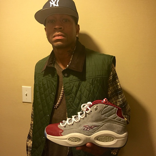 2e124ff6 Allen Iverson Enjoys a Day in Philly in Villa x Reebok Questions ...