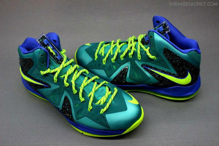 new products 35e2d b0e38 Nike LeBron PS Elite Sport Turquoise Volt Violet Force 579827-300 (1)