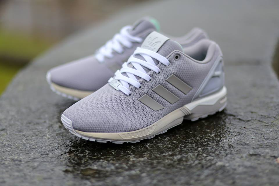 The adidas ZX Flux back in mesh mode with the  Light Granite  release. & Light Granite
