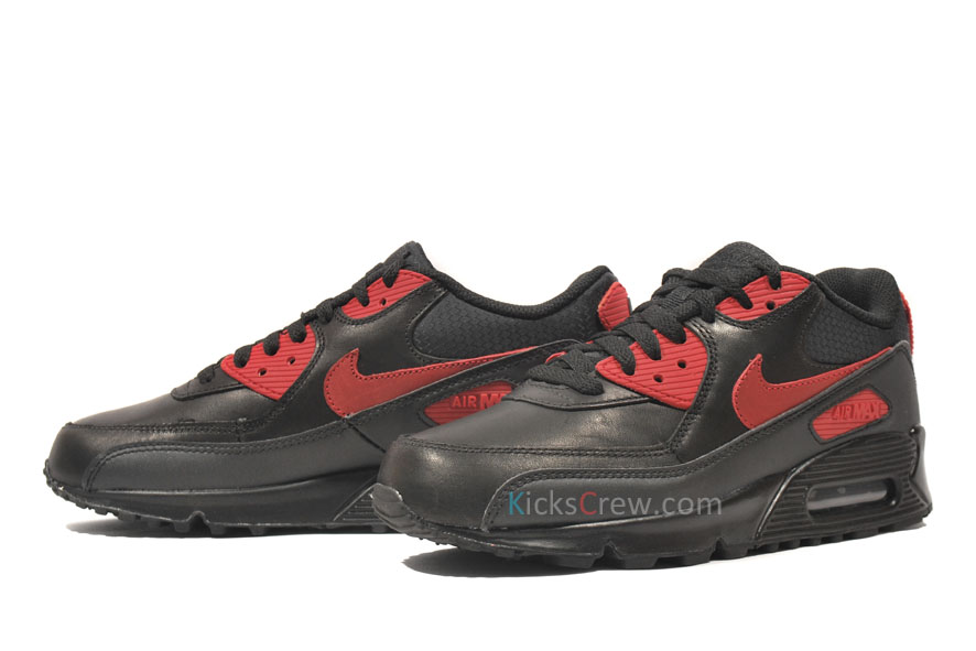 nike air max 90 black varsity red