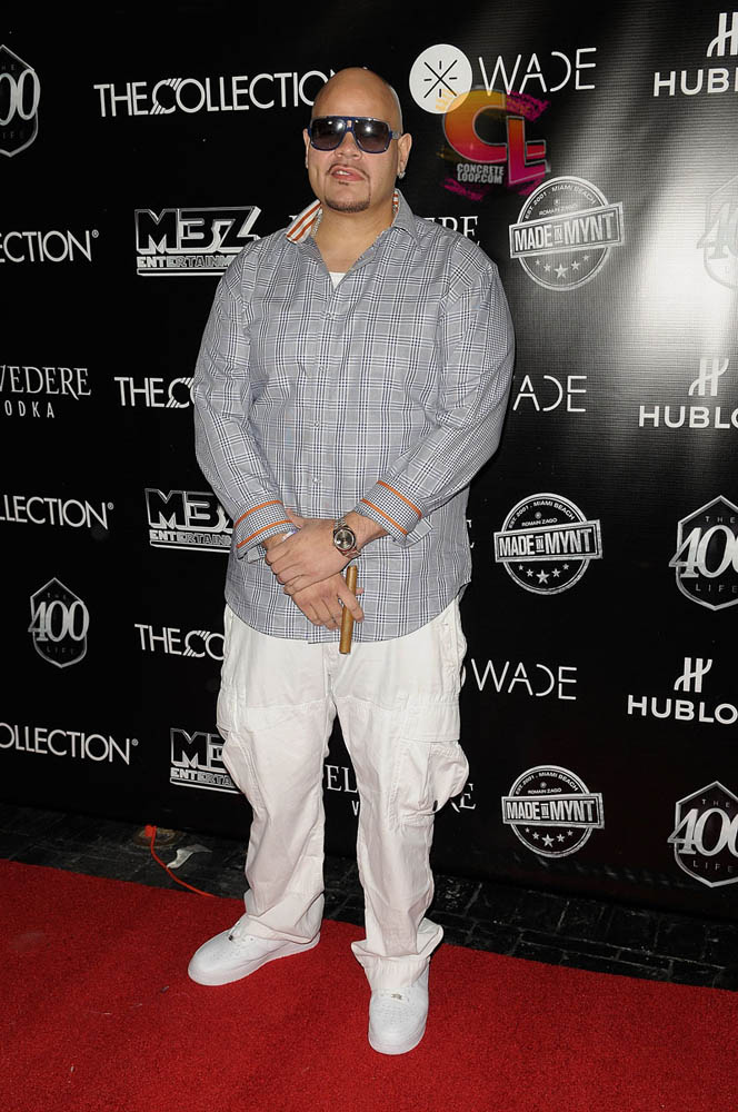 Fat Joe wearing Niek Air Force 1