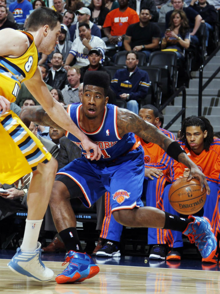 Iman Shumpert wearing adidas Top Ten 2000 Bright Lights Big City  Danilo  Gallinari wearing adidas 9836d1a59