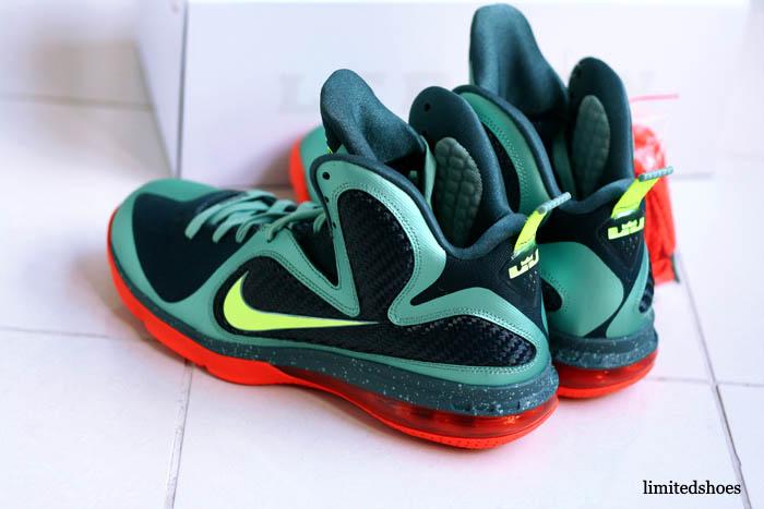brand new aad72 e96cf Nike LeBron 9 Cannon Volt Slate Blue Team Orange 469764-004 6