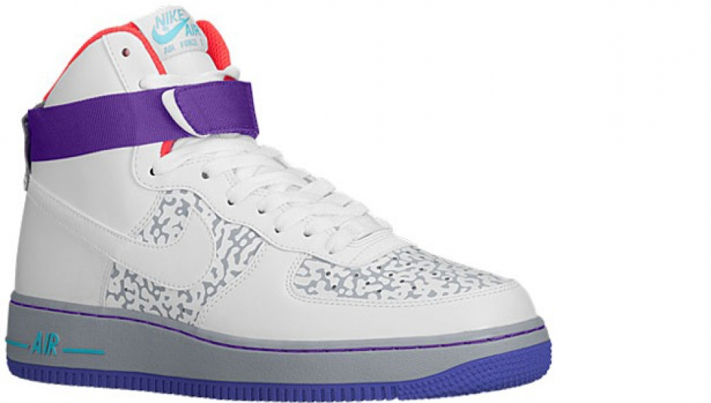 Nike Air Force 1 High White/White-Wolf Grey-Purple Venom