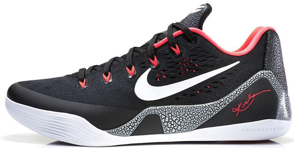Nike Kobe 9 EM Black/White-Laser Crimson-Wolf Grey