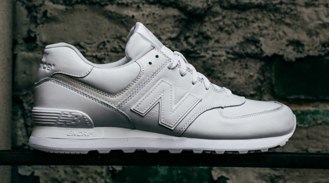new balance 574 all white