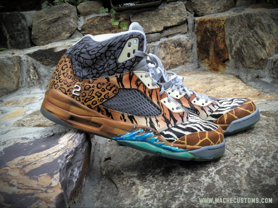 "Air Jordan V 5 Retro ""Noah's Ark"" by Mache Custom Kicks (2)"