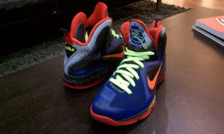 timeless design bd5c7 12b8b Top Quality Nike Lebron 9 Low Nerf Custom