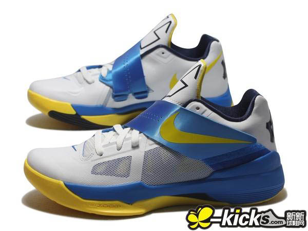 new arrival 9a413 a649c Nike Zoom KD IV White Tour Yellow Photo Blue Midnight Navy 473679-102 (1