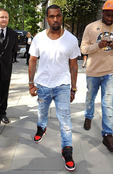 Kanye West Spotted In 01 Air Jordan 1 At London Fashion
