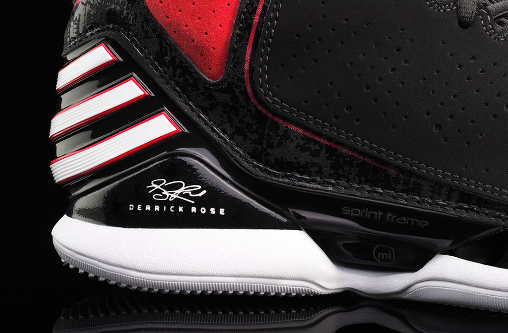adidas Rose 773 Black Red White (4)