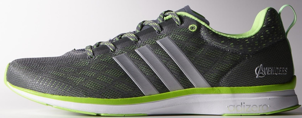 adidas adiZero Feather 4 Onix/Silver Metallic-Solar Green
