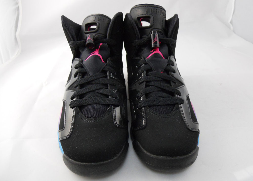 Air Jordan VI 6 GS Black Pink Flash Marina Blue 543390-050 (2)