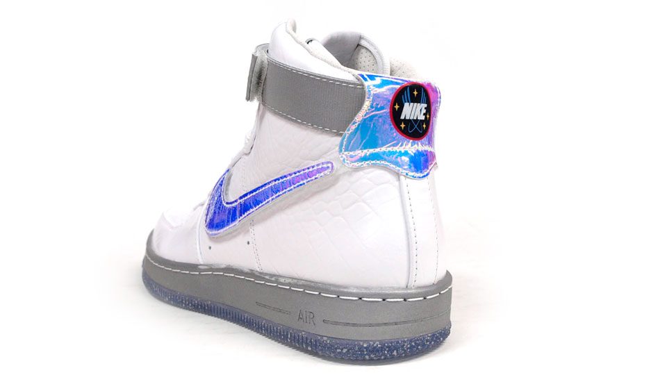 Nike Air Force 1 Downtown Hi LW QS in White hologram heel