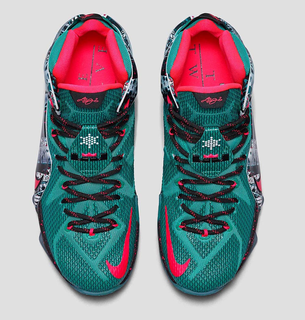 f88999178256 nike lebron 12 christmas releae date 122614 color emerald greendark  emeraldhyper punch style 707558 363 price