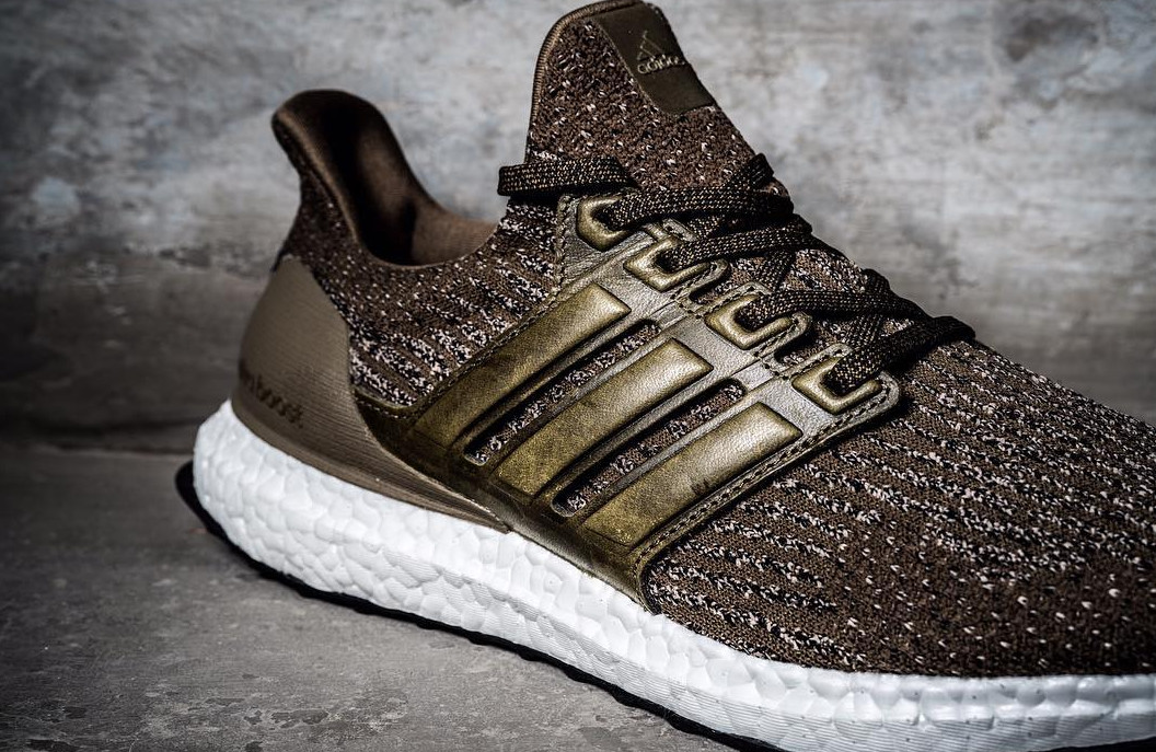 8271d0ba3 Image via  sneakerprophet  on Instagram · Adidas Ultra Boost 3 Chocolate  Leather Brown Cage Detail