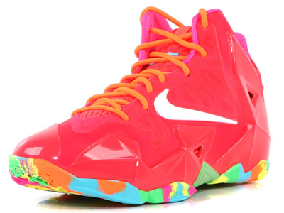 817ef9972f5af Nike LeBron XI GS - Bright Red Multi-color