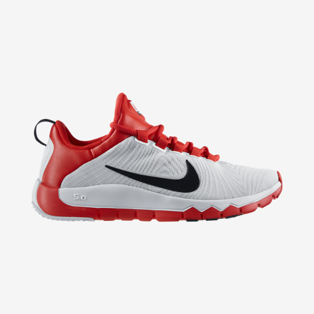red and white nike free trainer 5.0