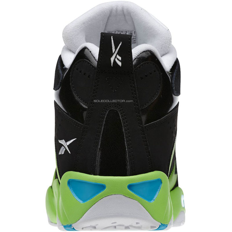 Reebok Kamikaze 1 Black/White-Green Blue M43287 (4)