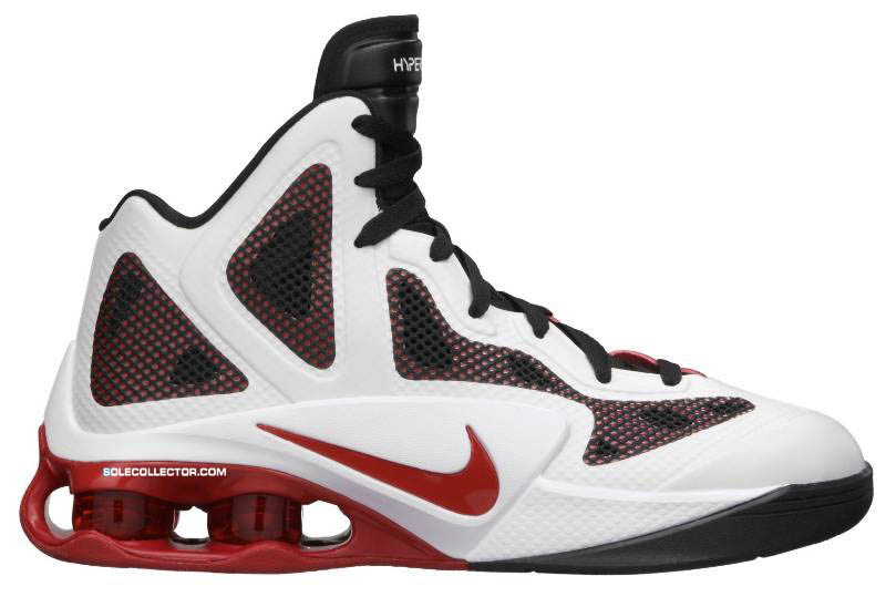 buy online eac23 e28d5 ... Nike Air Shox Hyperballer White Sport Red Black 454154-101 Nike Air  Shox Hyperballer New Nike Air Shox Hyperballer TB Basketball Shoes ...