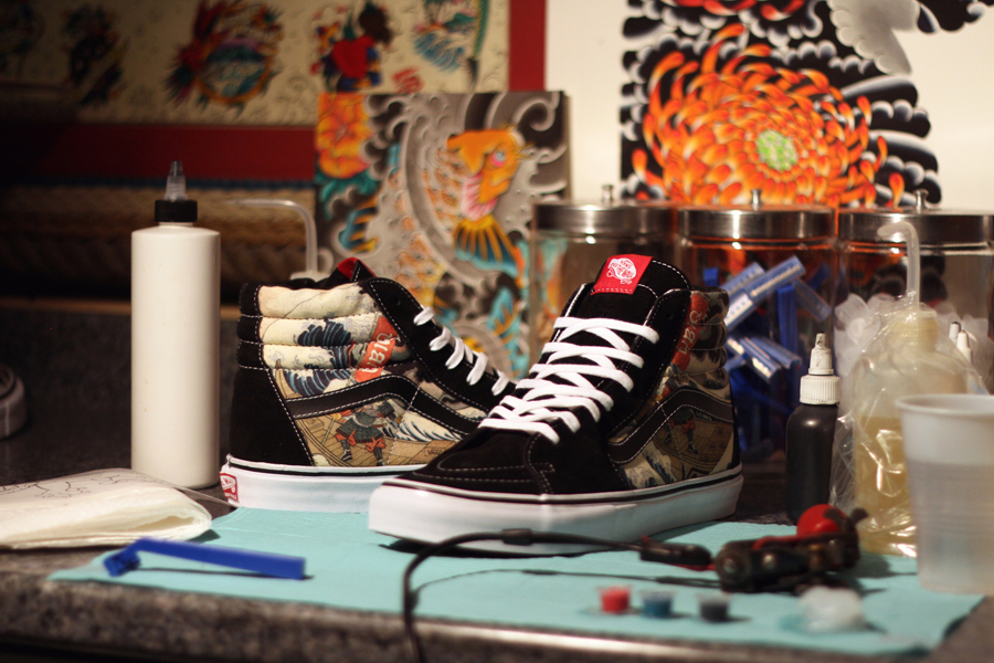 UBIQ x Vans Vault Three Tides Tattoo Sk8-Hi profile