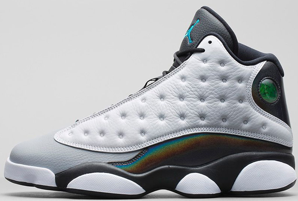 air jordan retro 13 blue green